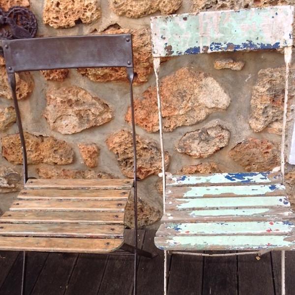 Chaises de square