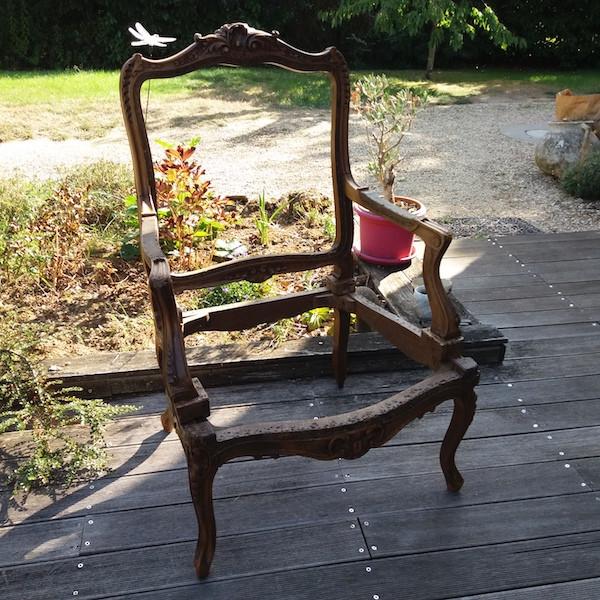 Carcasse fauteuil louis15, restauration