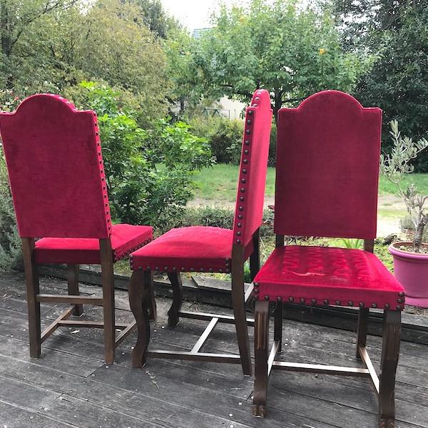 Chaises salle à manger, restauration