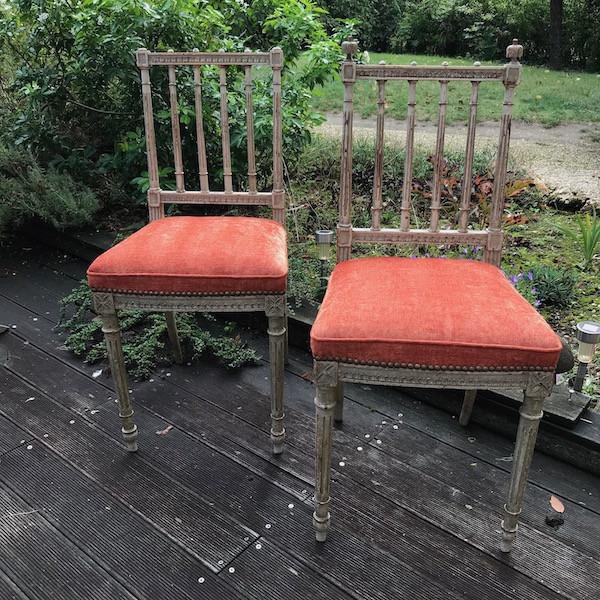 Petites chaises Louis XVI