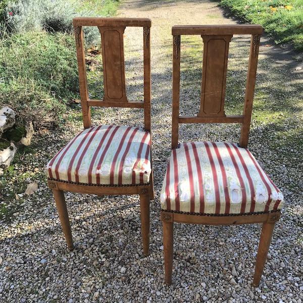 Chaises Directoire, restauration