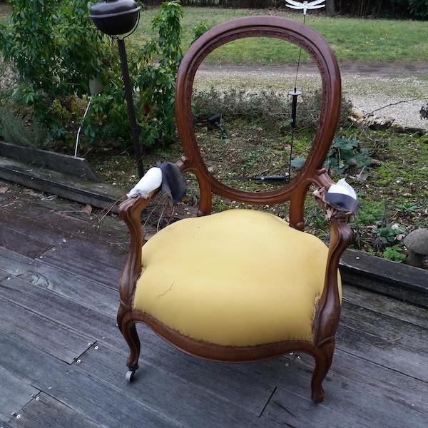 Fauteuils style Louis Philippe, restauration