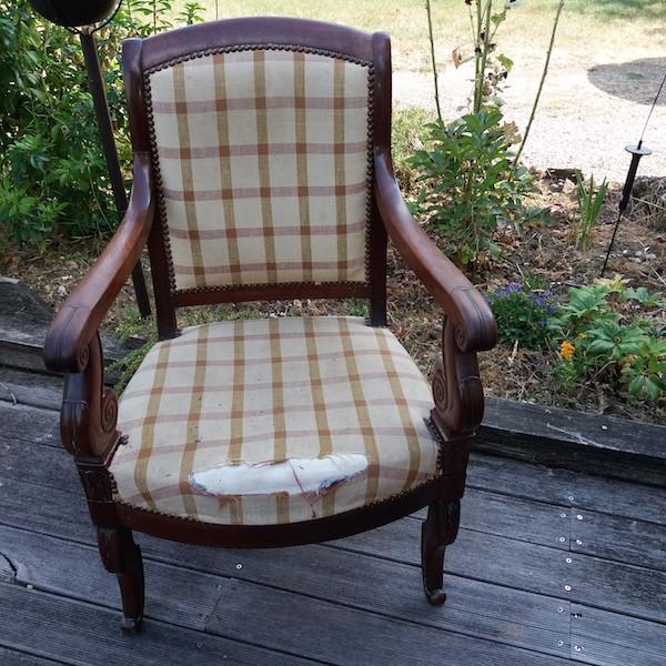 Paire de fauteuils époque Restauration, restauration